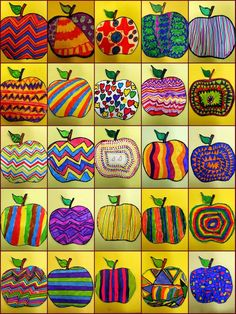Jesienne inspiracje Landscaping iDeas Crafts For Kids 🍂 Fall Art Projects, School Art Projects, Art School, Apple Art Projects, Arte Elemental, Classe D'art, 2nd Grade Art, Kindergarten Art, Collaborative Art