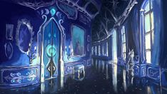 Palace hallway by Plainoasis on DeviantArt Scenery Background, Fantasy Background, Castle Background, Episode Interactive Backgrounds, Episode Backgrounds, Anime Backgrounds Wallpapers, Anime Scenery Wallpaper, Fantasy Forest, Fantasy Castle