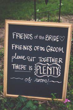 sweet wedding ceremony sign
