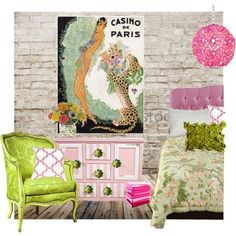 Pink & Green, created by tinyturtle73 on Polyvore