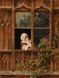 En la ventana / At the window Charles Edouard Delort 1841-1895 pic.twitter.com/pjF4jDRz0q