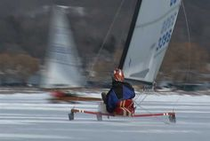 Ice Sailing on Lake Charlevoix