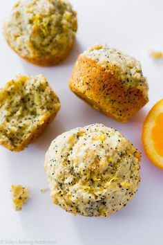 Orange Lemon Poppy Seed Muffins - moist, sweet, and full of citrus flavor. No mixer required! Recipe on sallysbakingaddiction.com