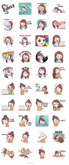 You can show your daily fangirling activities by using these stickers~! Stickers Kawaii, Emoji Stickers, Cute Stickers, Korean Words Learning, Korean Language Learning, Chibi, Learn Korea, Korean Expressions, Korean Stickers