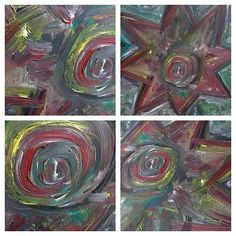 Four detail views on OUBEYs StarPixel. Discover more #StarPixels here:  http://www.oubey.com/art  #OUBEY #painting #artist #art #artlove #instaart #artoftheday #artstagram #Kunst #followart #colors #colorful #bunt #star #Malerei #zoomed #pixel #collage #detail #detailview