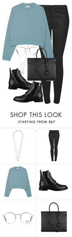 """Başlıksız #1330"" by zeynep-yagmur ❤ liked on Polyvore featuring Maison Margiela, Topshop, Acne Studios, Yves Saint Laurent and Ray-Ban"