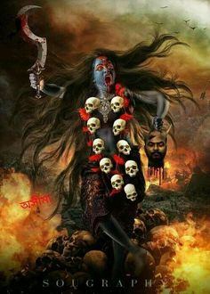 Alternative Ancient Anunnaki History Of The Indian Vimana Epics of the Ancient Alien Gods in India's Indus Valley in the Hindu Vimana Ramayana and Baharata Epics Kali Hindu, Kali Mata, Mahakal Shiva, Krishna, Lord Shiva, Indian Goddess Kali, Durga Goddess, Indian Gods, Kali Tattoo