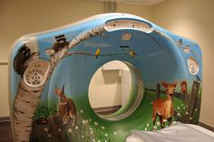 CT Scanner mural for Toledo Hospital completed November 2014.