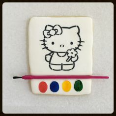 Paint your own cookie ~ Hello Kitty