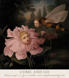 """Come and Go"", oil on wood~Image © Stephen Mackey"