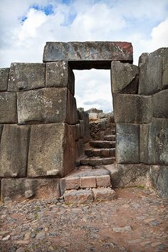 The walls of Sacsayhuaman, Cusco, Peru. Built like a fortress, the complex covers a huge area, but it constitutes perhaps only a quarter of the original complex, which could easily house more than 10,000 men. (V)