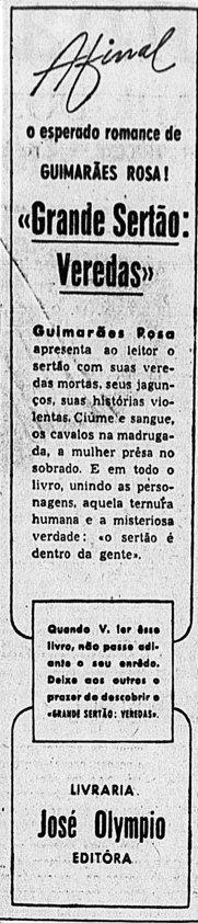 Grande Sertão: Veredas. Foto: Reprodução