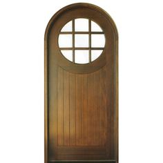 DSA Doors Porthole 9LT E 01B Pre Hung Round Top Mahogany 9 Lite