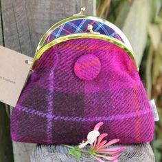 Scottish Gifts -  Harris Tweed Purse www.onemoregift.c... $