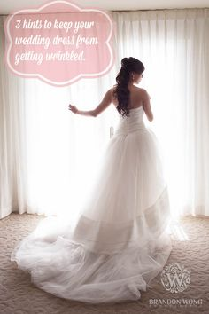 3 Hints for unpacking your wedding dress when you arrive at the hotel!