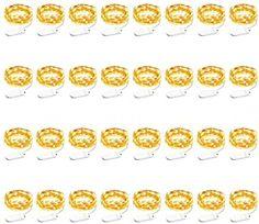 Onforu 32er 1.5m LED Lichterketten 3000K Warmweiß Drahtlichterkette Batterie aus Kupferdraht IP65 Wasserdicht 15 LEDs CR2032 Kupfer Micro Lichterkette für Innen Außen FlaschenParty Deko usw - 35.99 - 5.0 von 5 Sternen - Lichterkette Herbst 2019