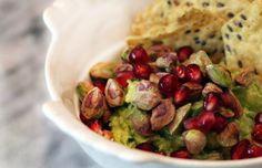 Pomegranate Pistachio Guacamole  #guacamole #nationalguacamoleday