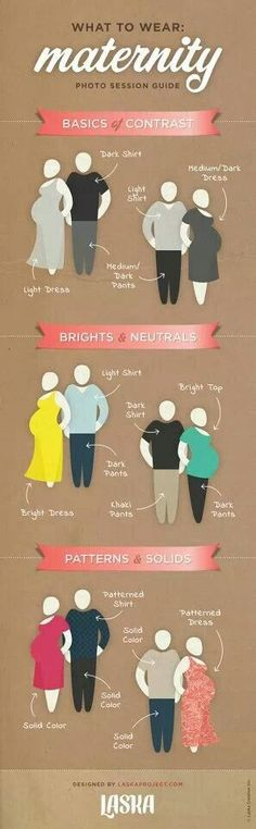 What to wear to a photo shoot (pregnant or not)
