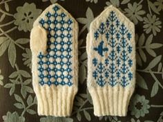 Forest Songbird Mittens by Yasuyo Okui Nordic Jacquard Accessories (Japanese publication) Fingerless Mittens, Knitted Gloves, Knitting Charts, Knitting Patterns, Tapestry Crochet, Knit Crochet, Mittens Pattern, Mittens, Ganchillo