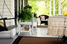 From Hometown Girl Blog.  Southern charm porch.