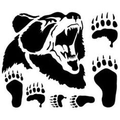 Bear Leathercraft Stencil - #bearlouis stencil