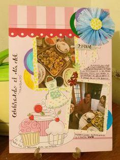 Mi Scrap: layout día trabajo Card Making, Scrapbook, Cover, Frame, Blog, Decor, Art, Rosettes, Aprons