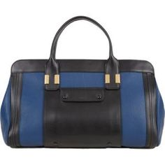 Chloe - Leather Tote Bag Alice Black and Navy - $1,139.00 (48% off)
