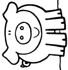 Animals Coloring Pages Quilting Templates, Quilt Patterns Free, Applique Patterns, Applique Quilts, Animal Coloring Pages, Colouring Pages, Dramatic Play Themes, Farm Quilt, Pig Drawing