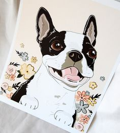 Smiley Boston Terrier