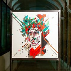 NO CURVES @nocurves (tape art) Dante, the supreme poet. [ #ravenna #myRavenna #streetart #urbanart #graffiti #murales #art #subsidenze]