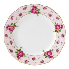 Royal Albert New Country Roses Pink Formal Vintage 16cm Bread and Butter Plate