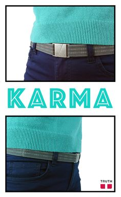The Karma belt can fit anyone while keeping the tummy flat. $28.00 www.truthbelts.com and www.amazon.com #veganfashion