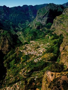 Madeira island, Curral das Freiras. A beautiful valley and place not far away from Funchal.