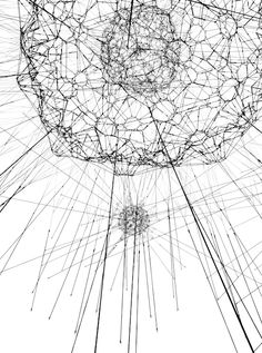 Tomás Saraceno, Galaxies Forming along Filaments, Like Droplets along the Strands of a Spider's Web, 2009.   Photo: Alessandro Coco © Tomás Saraceno