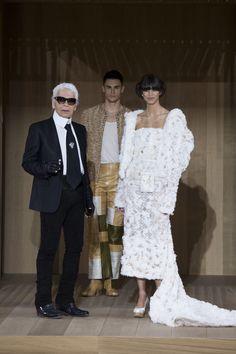 Chanel Spring 2016 Couture Fashion Show - Karl Lagerfeld, Baptiste Giabiconi, Mica Arganaraz