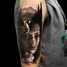 By Arlo DiCristina the image is coming out of his arm