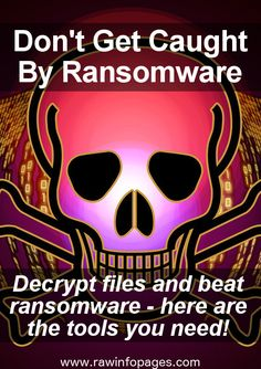 Ransomware is a growing threat, but security companies are fighting back with free tools to decrypt your files. Here's what you need.