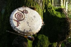 """""""A wytches' brew"""" one of my friend Nicci's handmade drums. I love her work and the sound of our Drums!"""