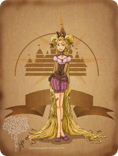 Disney steampunk:Rapunzel by MecaniqueFairy.deviantart.com on @DeviantArt