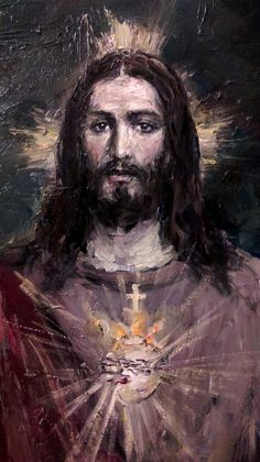 The Most Sacred Heart of Jesus, art by Jose Luis Castrillo Jesus Christ Quotes, Pictures Of Jesus Christ, Religious Pictures, Christian Paintings, Christian Art, Heart Of Jesus, Jesus Is Lord, Catholic Art, Religious Art