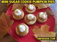 Mini Sugar Cookie Pumpkin Pies