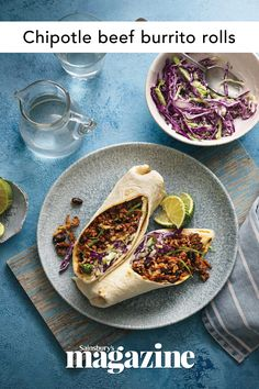 These chipotle beef burrito rolls are full of Mexican flavours and are simple enough to make on a weeknight. Get the Sainsbury's magazine recipe Broccoli Stalk, Curry In A Hurry, Magazine Recipe, Dinner Ideas, Dinner Recipes, Midweek Meals, Recipe Inspiration, Healthy Eating Recipes, Chipotle
