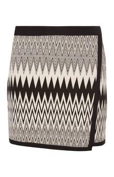 Primark - Monochrome Wrap Tapestry Mini Skirt
