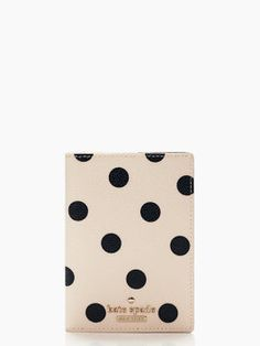 Why not give your passport some style this year with the Cedar Street Dot passport holder from Kate Spade NY? Kate Spade New York, Kate Spade Cedar Street, Book Clutch, Leather Luggage Tags, Graphic Prints, Things To Buy, Designing Women, Passport, Traveling By Yourself