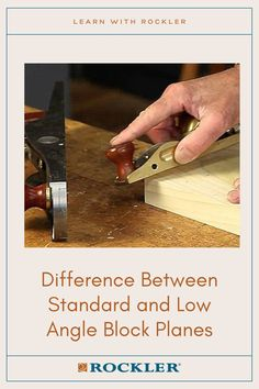 Is there a difference between a low-angle and standard block plane? Join the conversation here! #CreateWithConfidence #Plane #BlockPlane #LowAnglePlane #LearnWithRockler Rockler Woodworking, Woodworking Hand Tools, Woodworking Shop, Low Angle, The Good Old Days, Angles, Plane, Helpful Hints, Conversation