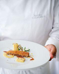 Pigs Tail Croustillant With White Leek Dijon Mustard Vinaigrette Mint Flowers | Recipes | Recipes | Food Arts