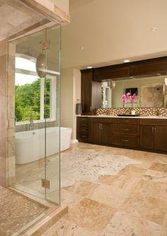 Master Bath, Glass Door Shower, Freestanding Bathtub, Double Vanity