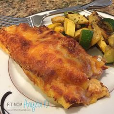 21 Day Fix Approved Cheesy Chicken Enchiladas | Clean Eats | Healthy Dinner | Fit Mom Angela D