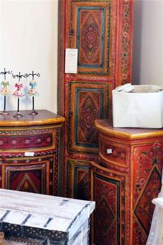 bohemian painted furniture designs and colors @ Pin Your Home