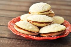 Alfajores- Chilean Dulce de Leche Cookies, lightly sweetened sandwich cookies with dulce de leche in the middle. Also delicious with jam! www.thekusilife.com